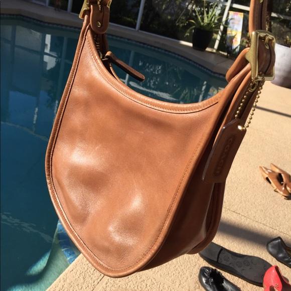 Coach Handbags - Camel Coach Leather Crossbody